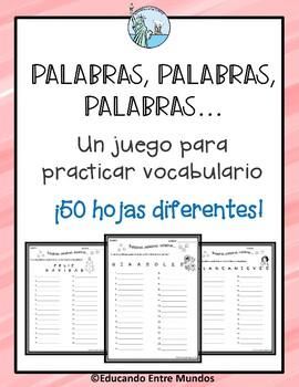 Palabras, palabras, palabras... juego de vocabulario