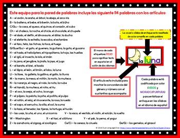 Palabras para la pared de palabras - ROJO