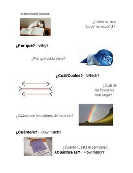 Palabras para preguntar (Interrogative Words)
