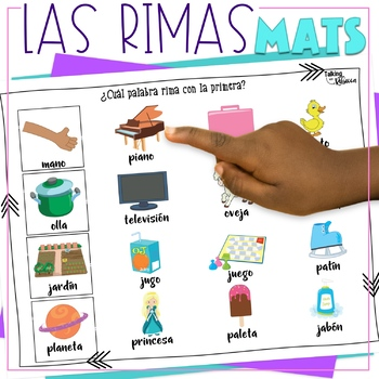 Las Rimas Spanish Speech Therapy Rhyming Words Activities and Worksheets