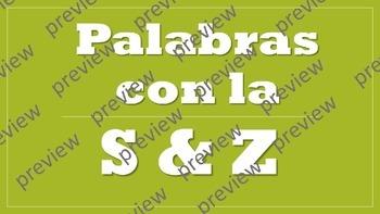 Palabras que comienzan con S Y Z Presentacion de PowerPoint (Spanish)