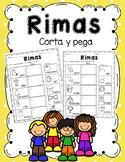 Palabras que riman en español -corta y pega/ Rhyming Words