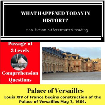 Palace of Versailles Differentiated Reading Passage May 7