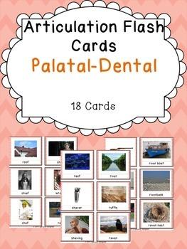 Apraxia & Articulation Cards Palatal-Dental FREEBIE!