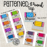 Pale Arrow Tags for Cubbies, Name Tags, Coat Hooks