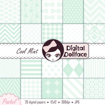 Digital Paper - Pale Mint Green