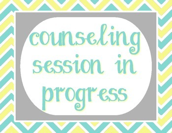 """Pale Yellow, Tiffany Blue and Gray - Counseling Session In Progress - 8.5""""x11"""""""