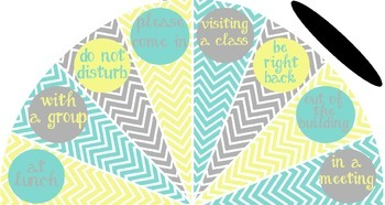 Pale Yellow, Tiffany Blue and Gray - Where is the counselor? sign - variation #2