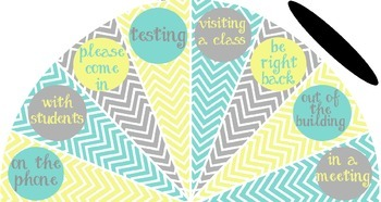 Pale Yellow, Tiffany Blue and Gray - Where is the counselor? sign - variation #3
