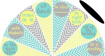 Pale Yellow, Tiffany Blue and Gray - Where is the counselor? sign - variation #4