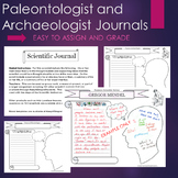 Palentologist and Archaeologist (Fossils) Graphic Organizer Interactive Journal