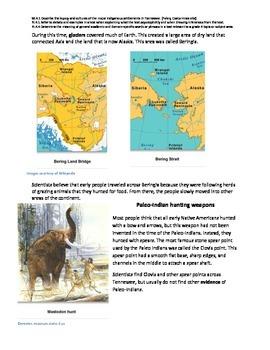Paleo-Indians nonfiction passage and practice