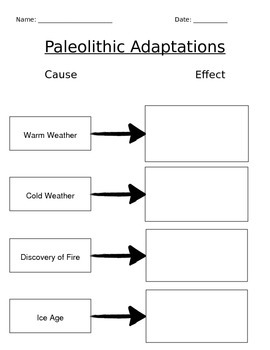 Paleolithic Adaptations: Cause & Effect