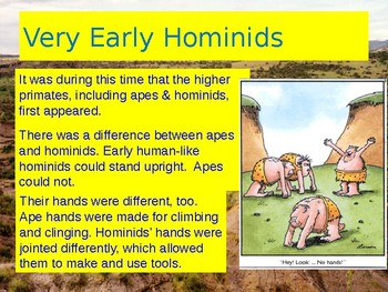 Paleolithic Age - Hominids to Hunters & Gatherers