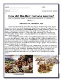 Paleolithic Age Reading and Comprehension Questions