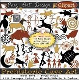 Prehistoric Cave Art CLIPART {Paez Art Design}