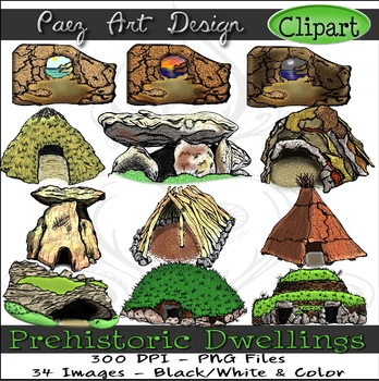 Paleolithic Dwellings Clipart