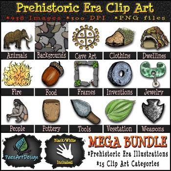 Paleolithic Era Clipart Growing MEGA Bundle! {Paez Art Design}