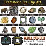 Prehistoric Era Clipart MEGA Bundle {Paez Art Design}
