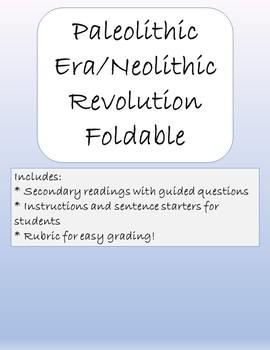 Paleolithic Era/Neolithic Revolution Foldable