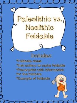 Paleolithic Era vs. Neolithic Era Comparison Foldable