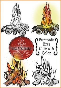 Paleolithic Fire Clipart