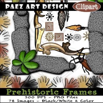 Prehistoric Frames CLIPART {Paez Art Design}