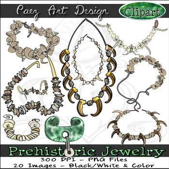 Prehistoric Jewelry CLIPART {Paez Art Design}