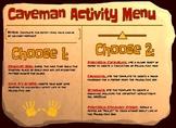 Paleolithic Man Activity Menu
