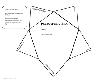 Paleolithic-Neolithic Era Interactive Note Book