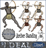 Paleolithic People CLIPART: Archer Standing {Paez Art Design}