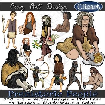 Prehistoric People CLIPART {Paez Art Design}