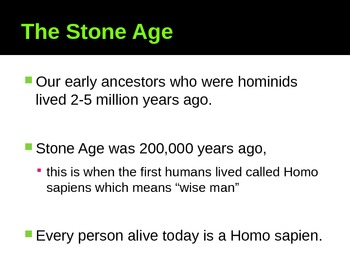 Paleolithic Stone Age PowerPoint