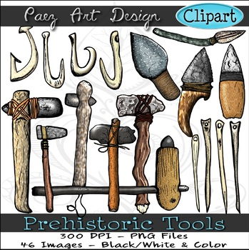 Prehistoric Tools Clipart {Paez Art Design}
