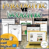 Paleolithic VS Neolithic Activity {Digital AND Paper} Dist