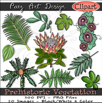Prehistoric Vegetation CLIPART {Paez Art Design}