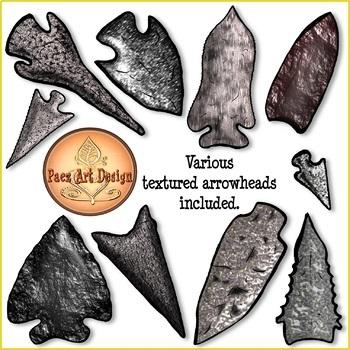 Prehistoric Weapons Clipart {Paez Art Design}