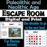 Paleolithic and Neolithic Age Activity: Escape Room - Social Studies (Stone Age)