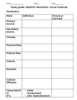 Paleolithic to Neolithic Era study guide
