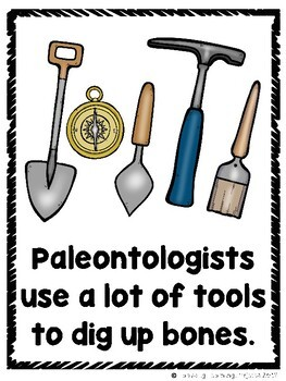 Paleontologists Dig For Dinosaurs  (A Sight Word Emergent Reader and Lap Book)