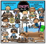 Paleontology Clip Art Bundle  {Educlips Clipart}