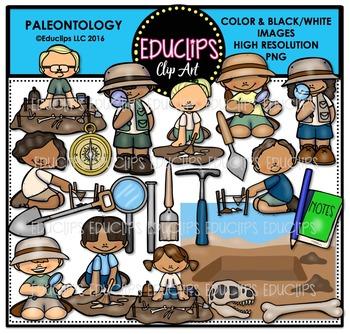 Paleontology Clip Art Bundle  {Educlips Clipart}