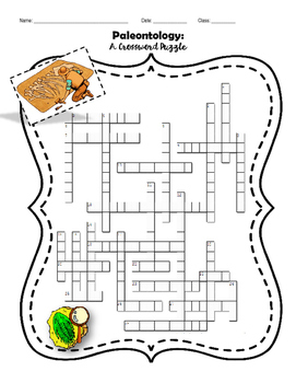 Paleontology Geologic Time Scale Crossword Puzzle By Kool School