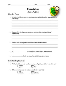 Paleontology Remediation Packet