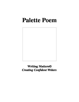 Palette Poem