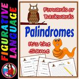 Palindrome Scramble Figurative Language Center Activity