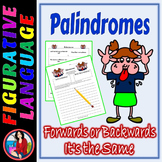 Palindromes Figurative Language Center Activity