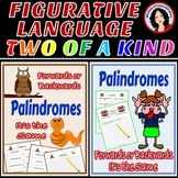 Palindromes Figurative Language Center Activity 2 for $4 Bundle
