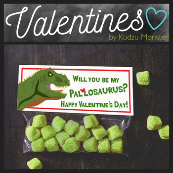 Pallosaurus Dinosaur Valentine Treat Topper