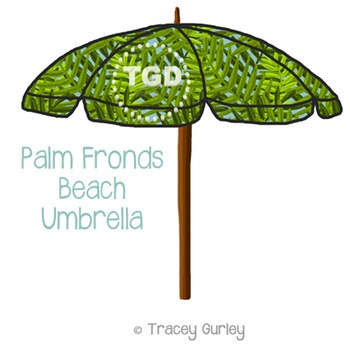 Palm Frond Beach Umbrella Printable Tracey Gurley Designs
